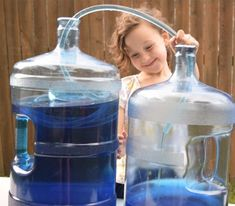 Great science experiment for kids - or even just a way to empty out the fish tank without scooping all day!
