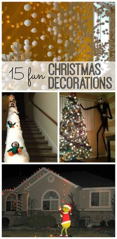Christmas decorations. Your season is sure to be sparkly and bright with these great ideas to decorate your house - or get ready for your next Christmas party.