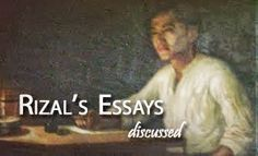 compilation of jose rizal essays