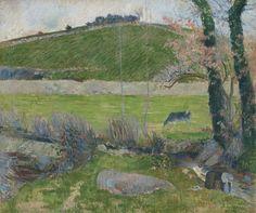 Paul Gauguin, SUR L'AVEN EN AMONT DE PONT-AVEN, 1888, Oil on canvas, 24 by 28 3/4 in. 60.9 by 72.9 cm