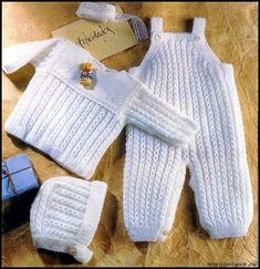 gift adorable knitted suit set for baby girlbaby boy soft acrylic hypoallergenic pants jacket cap blouse overallsknitted jumpsuit USD) by MagicFairyKnitting Baby Overalls, Baby Pants, Baby Boy Knitting Patterns, Baby Patterns, Matching Sweaters, Baby Sweaters, Knitted Baby Clothes, Baby Dress, Crochet Baby
