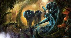 Starcraft 2 Heart of the Swarm jungle by VitoSs.deviantart.com on @DeviantArt