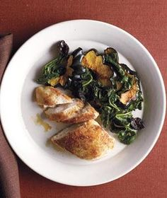 Moroccan Chicken With Kale and Roasted Squash