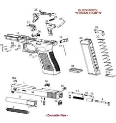 glock diagram gunsmithing pinterest diagram guns and weapons rh pinterest com glock 23 gen 4 diagram Glock 17 Parts Diagram