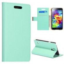Buchdesign Tasche für Samsung Galaxy S5 Simple Magnetik Türkis  9,99 €