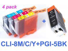 Canon PGI-5 , CLi-8Bk, CLi-8C, CLi-8M, CLi-8Y generic ink cartridge Printer Ink Cartridges, Canon Ink