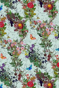 Buy Timorous Beasties Bloomsbury Garden Wallpaper online with Houseology's Price Promise. Full Timorous Beasties collection with UK & International shipping. Garden Wallpaper, Fabric Wallpaper, Wall Wallpaper, Pattern Wallpaper, Vintage Wallpaper Patterns, Vintage Wallpapers, Temporary Wallpaper, Wallpaper Pictures, Wallpaper Wallpapers