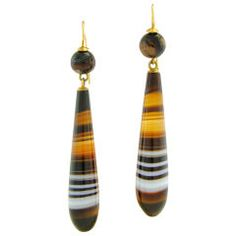 Victorian Agate Earrings