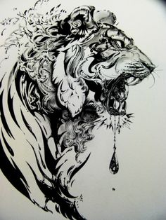 Illustration art ink drawing