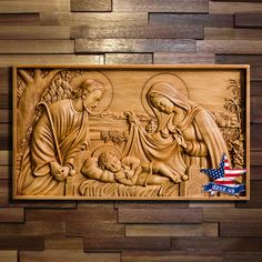 Details about Wood Carved icon Holy Family picture painting sculpture statue figure artwork - Wood Projects Wood Carving Designs, Wood Carving Patterns, Wood Carving Art, Wood Carvings, 3d Artwork, Artwork Pictures, Holy Family Pictures, Simple Nativity, Sculpture Art
