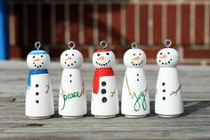 Snowman Peg Ornament.