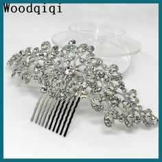 Woodqiqi peinetas y accesorios para peinados bridal hair accessories wedding hair rhinestone hair combs bridal headpiece