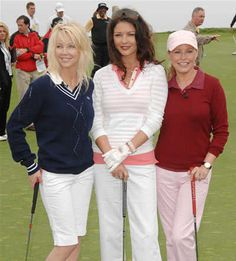 Heather Locklear, Catherine Zeta-Jones and Cheryl Ladd at the Michael Douglas and Friends Celebrity Golf Tournament