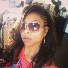I love this style on Taraji (styled by Kim Kimble)