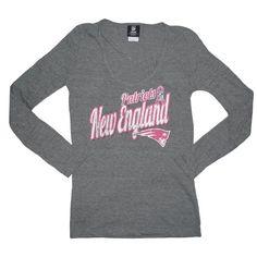 Must have!!#Patriots Ladies BCA Triblend L/S Top-Charcoal