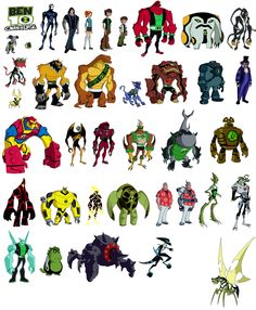 the 108 best ben 10 original force ultimate and omniverse aliens