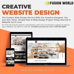Custom Web Design, Custom Website Design, Website Design Services, Website Designs, Web Design Projects, Responsive Web Design, Creative Design, Product Launch, Designers