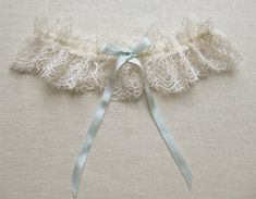Odette lace garter with silk and swarovski by florriemitton
