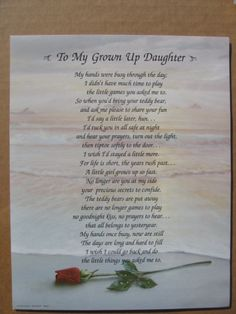 For My Adult Daughter Poems | My Daughter Poem                              …