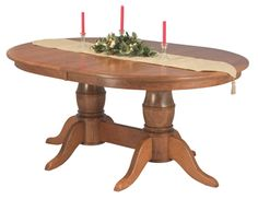Amish Harrison Single & Double Pedestal Dining Tables