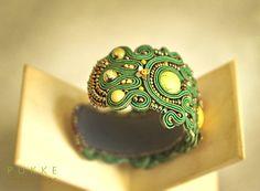 Grüne Soutache-Armband von pUkke auf Etsy