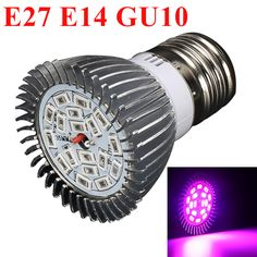 E27 E14 GU10 18W LED Grow Lights Full Spectrum SMD5730 12Red&6Blue Hydroponics Plant Lamp Best For Growing and Flowering