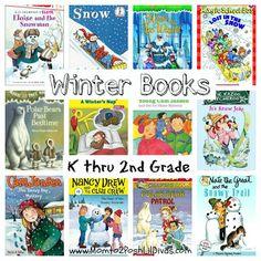 12 Winter Chapter Books for kids in K-2