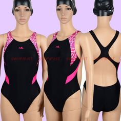 Nwt Yingfa 946-3 Competition Training Racing Swimsuit Xxl Us Miss 10-12 Sz 34/36