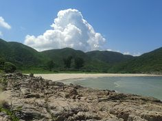 The double bayed Sai Wan beach, Sai Kung Peninsula, #HongKong
