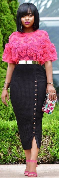 Pink and Black Ensemble  // Summer Outfit Idea by Lola_Akinuli
