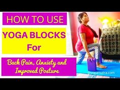 Do you feel less flexible and hard to get perfect in some of the yoga postures? Learn here how to use yoga blocks for back pain, stress, improv posture... Yoga For Flat Tummy, Chakra Meditation, Meditation Music, Mindfulness Meditation, Office Yoga, Yoga Youtube, Yoga For Back Pain, International Yoga Day, Yoga Block