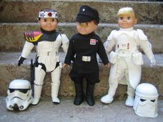 "Imperial Chicks site shows Star Wars Imperial uniforms for 18"" dolls by Kathy Van Bueningen.  Includes officer hat instructions. AWESOME."