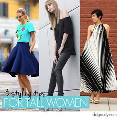 Top shelf: 3 styling tips for tall women | the article recommends tall girls to wear fancy shoes so i'm all for it! x