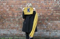 The Monochromes do Alphabet Scarves from Matalan for Alder Hey