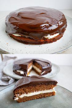 Danish Cake, Danish Dessert, Danish Food, Köstliche Desserts, Delicious Desserts, Yummy Food, Sweet Recipes, Cake Recipes, Bread Cake