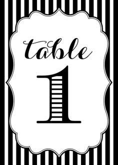 Free Printable Wedding Table Numbers Printable  via Budget Savvy Bride