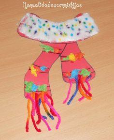 Manualidades con mis hijas. Bufanda de cartulina con bolitas de papel, algodon... Kids Craft. scarf. Winter. Cotton