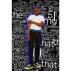 I'm a huge fan of @VinceStaples , this idea randomly popped into my head. First attempt at text like this I think it went a-ok 👌  #vincestaples #ramonapark #longbeach #photoshop #bagbak #rap #edit #graphicdesign #digitalart #mediamanipulation #adobe #adobephotoshop #cs6 #photography #hellcanwait #wordcloud #3230poppystreet #summertime06