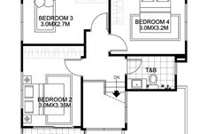 Elisa – Four Bedroom Compact Two Storey House Design | Pinoy ePlans