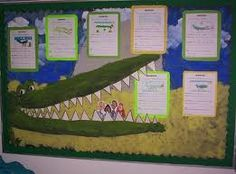 text selection - 'the enormous crocodile', roald dahl Roald Dahl Activities, Eyfs Activities, Roald Dahl Day, Roald Dahl Books, Classroom Wall Displays, School Displays, Year 1 Classroom, Classroom Walls, Book Study