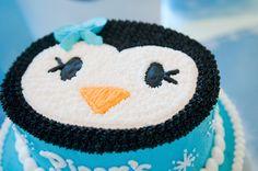 Super cute cake idea for penguin party