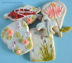 Koi Pond by Sugar Pearls Cakes and Bakes  | Cookie Connection