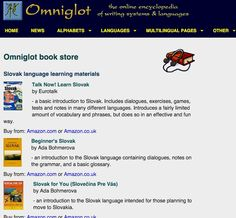 Slovak language courses, dictionaries, phrasebooks and other books Slovak Language, Different Languages, Alphabet, Writing, Learning, Books, Libros, Alpha Bet, Studying