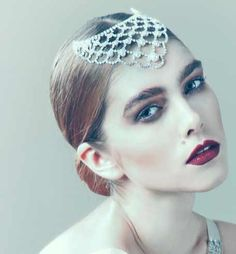 Pearl and crystal head dress from a fabulous bespoke designer that I'm coveting; Jane Taylor Millinery.