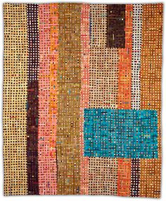 Linear Grid by Eleanor McCain  Her quilts are amazing.  Not your ordinary scrap quilt.