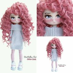 150 Best Cute Crocheted Amigurumi Patterns Ideas Pictures - Page 41 of post was discovered by kesmat maher. amigurumi for beginners; Crochet Dolls Free Patterns, Crochet Doll Pattern, Amigurumi Patterns, Doll Patterns, Crochet Stitches, Cute Crochet, Crochet Toys, Knit Crochet, Yarn Dolls