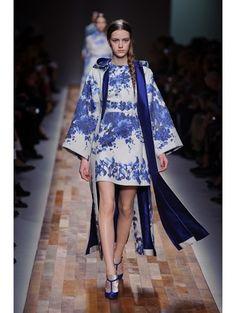 Delfts blauw jurk