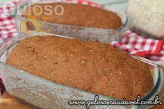 #BomDia! Este Pão Integral de Aveia e Cacau é incrível, é sofisticado, delicioso, com textura e sabor único!  #Receita aqui: http://www.gulosoesaudavel.com.br/2016/03/08/pao-integral-aveia-cacau/