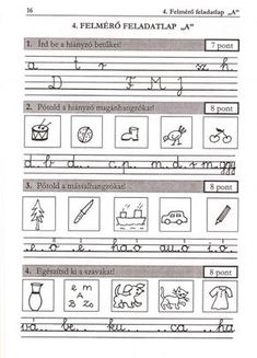 ÍRÁS, HELYESÍRÁS FELMÉRŐ FELADATLAPOK 1. osztály - tanitoikincseim.lapunk.hu Dysgraphia, Thing 1, Kids Learning, Grammar, Worksheets, Literature, Homeschool, Teaching, Writing