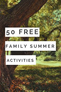Fun activities for your kids and family this summer